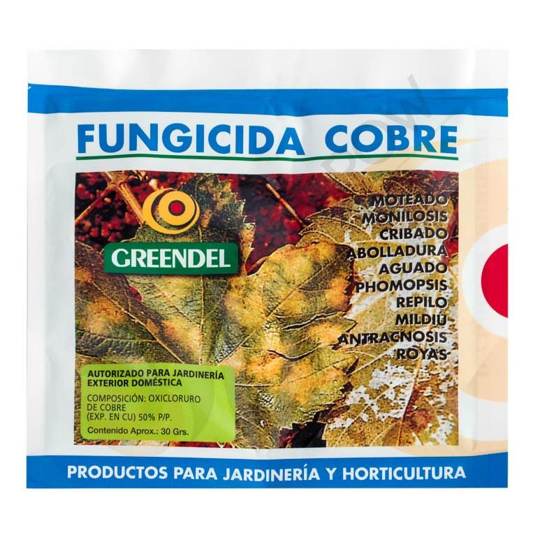 Fungicida Cobre Polvo 30 gr Greendel