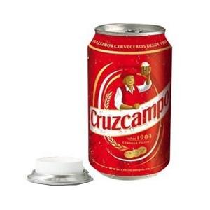 Lata de Cerveza Cruzcampo Ocultacin