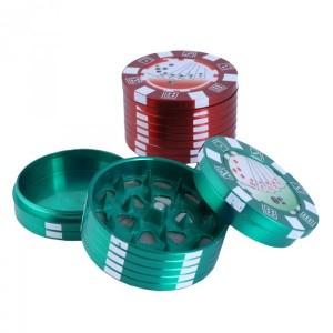 Grinder 3 Partes Ficha de Poker 40mm