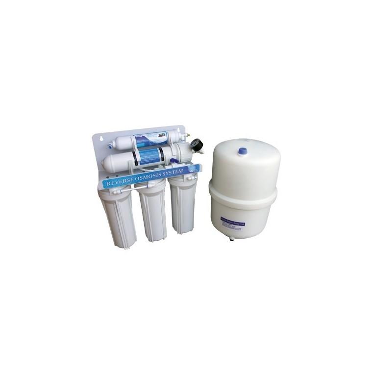 Sistema de Osmosis 5 etapas + Deposito presurizado