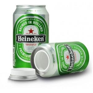 Lata Cerveza Heineken ocultación