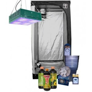 Kit Armario Cultivo Interior Led 80x80x160