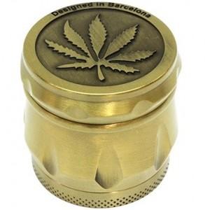 Grinder Metal Relieve Marihuana 4 Partes