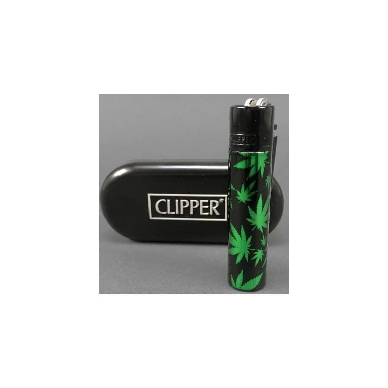 Clipper Metal Leaves Green + Estuche