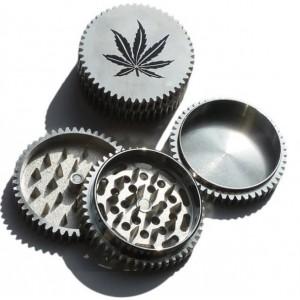 Grinder de Metal Hoja de Marihuana