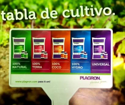 Tabla de cultivo de Plagron