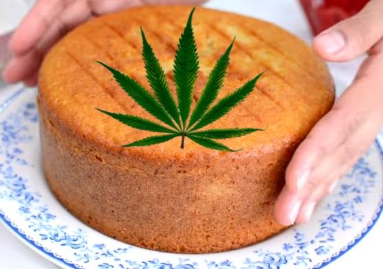 Bizcocho con Marihuana