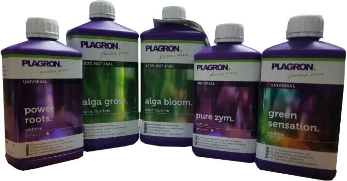 Gama de Plagron 100% Bio Natural según la Tabla