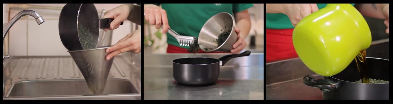 Receta Aceite de oliva cannabico