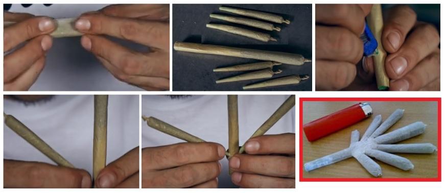 Tipos de porro hoja de Marihuana